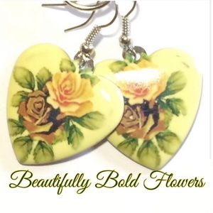 Boho Bold Floral Earrings